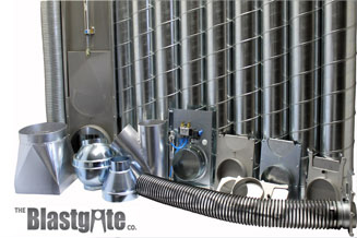 Blastgates, Flex Hose, Spiral Pipe, and Fittings