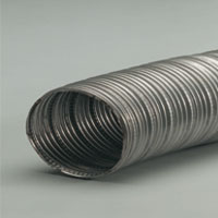 Stainless steel flexible hose for high temperatures