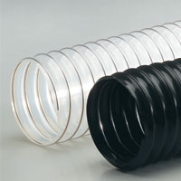 Light weight polyurethane flex hose for dust collection