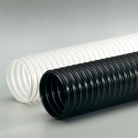 Extremely heavy duty polyurethane flex hose for dust collection