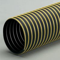Thermoplastic rubber flexible hose with external polyethylene wearstrip