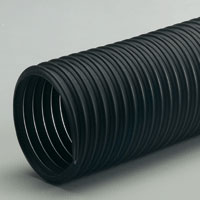 Thermoplastic rubber hose for wood, fumes, plastic and powders